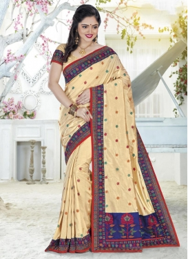 Embroidered Work Silk Classic Saree