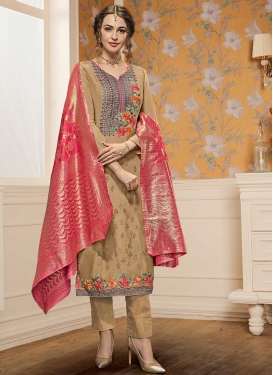 Embroidered Work Silk Georgette Pant Style Pakistani Suit