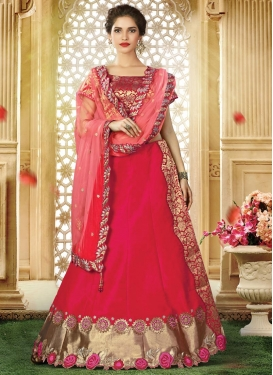 Embroidered Work Silk Trendy Designer Lehenga Choli