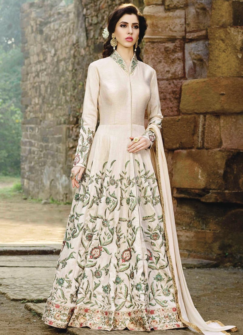 Embroidered Work Silk Trendy Salwar Kameez