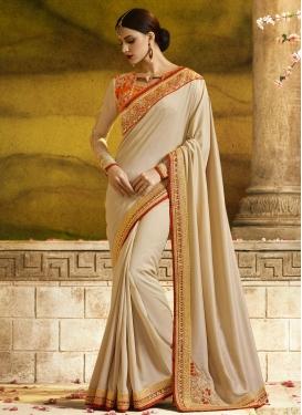 Embroidered Work Tafeta Silk Designer Traditional Saree