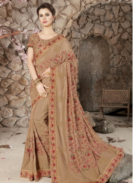 Embroidered Work Traditional Designer Saree For Party