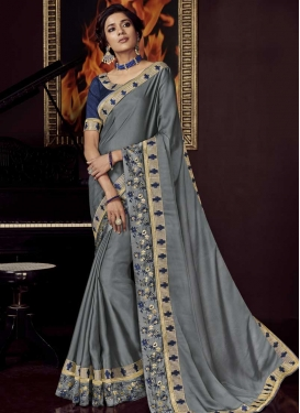 Embroidered Work Traditional Saree