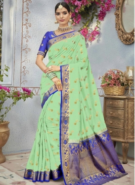 Embroidered Work Traditional Saree For Ceremonial