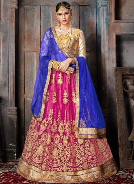 Embroidered Work Trendy A Line Lehenga Choli For Ceremonial