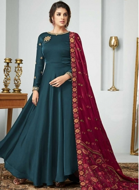 Embroidered Work Trendy Anarkali Salwar Kameez