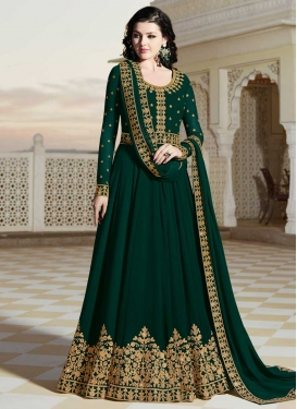 Embroidered Work Trendy Anarkali Salwar Suit