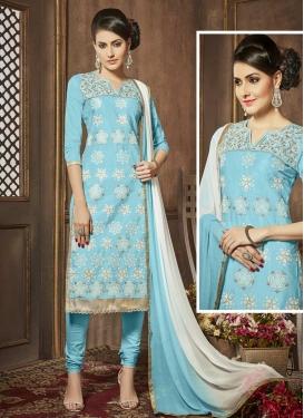 Embroidered Work Trendy Churidar Salwar Kameez