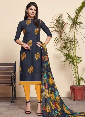 Embroidered Work Trendy Churidar Salwar Kameez