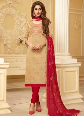 Embroidered Work Trendy Churidar Salwar Kameez For Casual