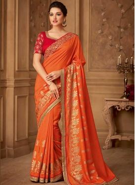 Embroidered Work Trendy Designer Saree