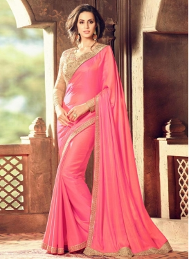 Embroidered Work Trendy Designer Saree For Ceremonial