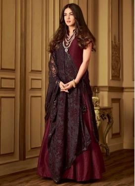 Embroidered Work Trendy Floor Length Salwar Suit