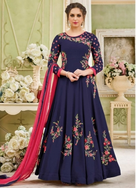Embroidered Work Trendy Kalidar Salwar Suit