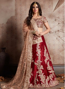 Embroidered Work Trendy Lehenga