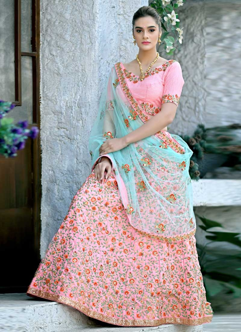 Embroidered Work Trendy Lehenga Choli