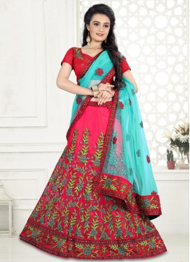 Embroidered Work Trendy Lehenga Choli For Ceremonial