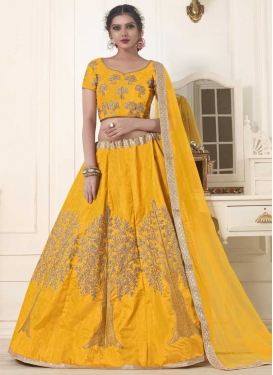 Embroidered Work Trendy Lehenga For Ceremonial