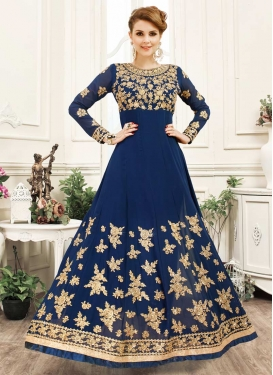 Embroidered Work Trendy Long Length Anarkali Suit
