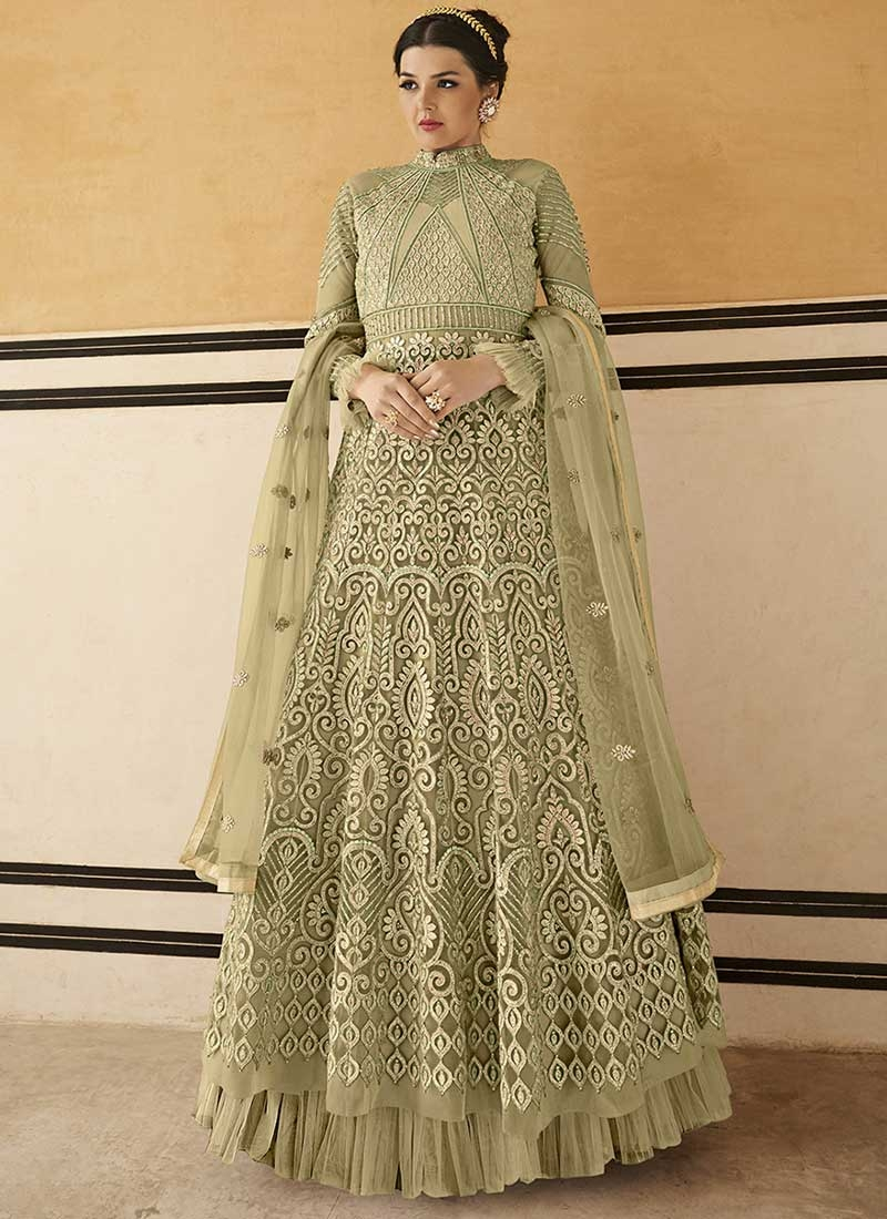 Embroidered Work Trendy Long Length Salwar Suit