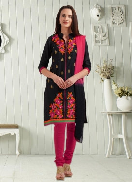 Embroidered Work Trendy Punjabi Churidar Suit