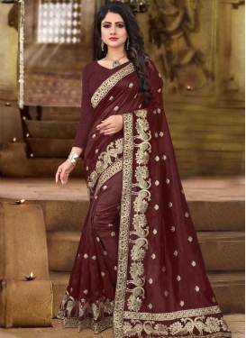 Embroidered Work Trendy Saree