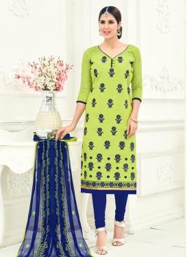 Embroidered Work Trendy Straight Salwar Kameez
