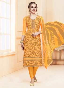 Embroidered Work Trendy Straight Salwar Kameez