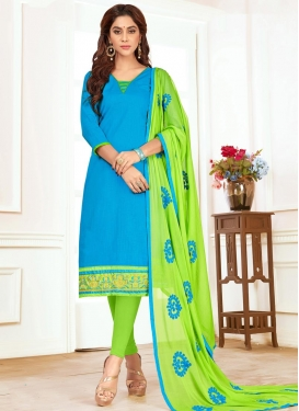 Embroidered Work Trendy Straight Salwar Suit For Casual