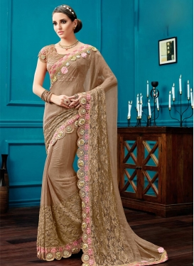 Enchanting Chiffon Satin Contemporary Saree