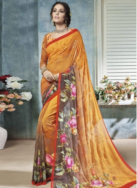 Enchanting Designer Contemporary Style Saree For Festival