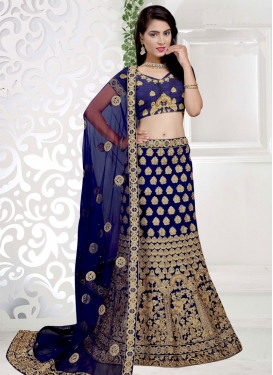 Enchanting Embroidered Work  A - Line Lehenga