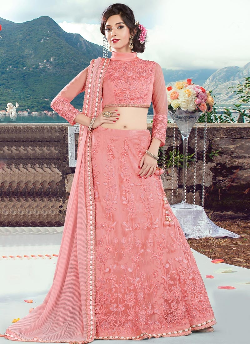 Enchanting Embroidered Work Trendy Designer Lehenga Choli