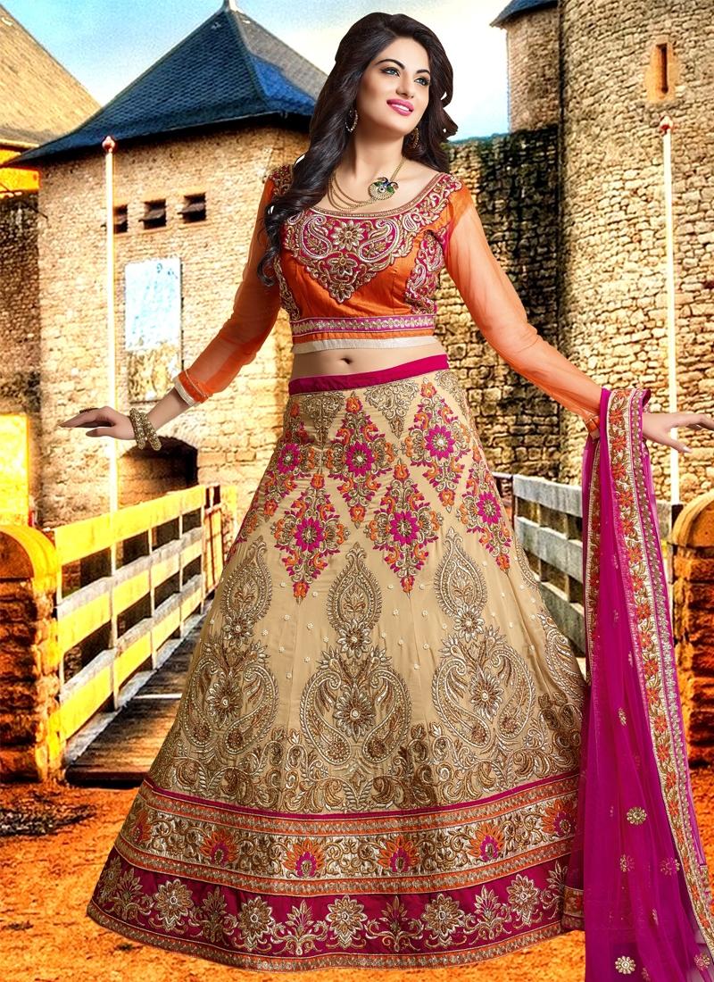Enchanting Faux Georgette Bridal Lehenga Choli