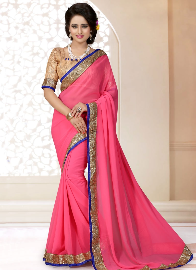 Enchanting Faux Georgette Casual Saree