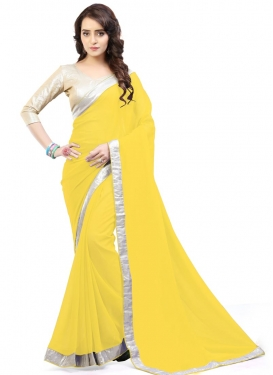 Enchanting Faux Georgette Contemporary Style Saree