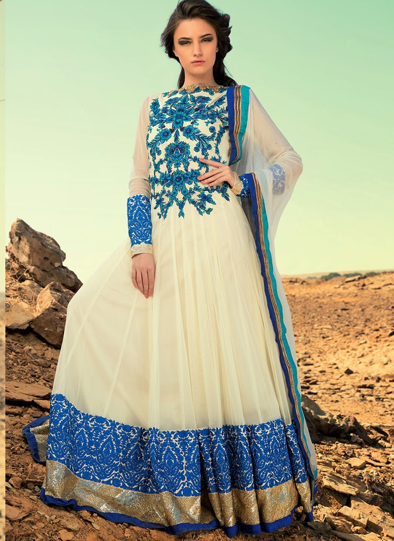 Enchanting Floral Work Anarkali Salwar Kameez