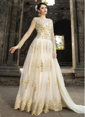 Enchanting  Net Floor Length Designer Salwar Suit