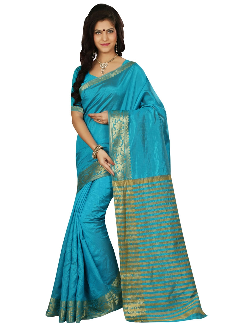 Enchanting Resham Work Art Silk Casual Saree