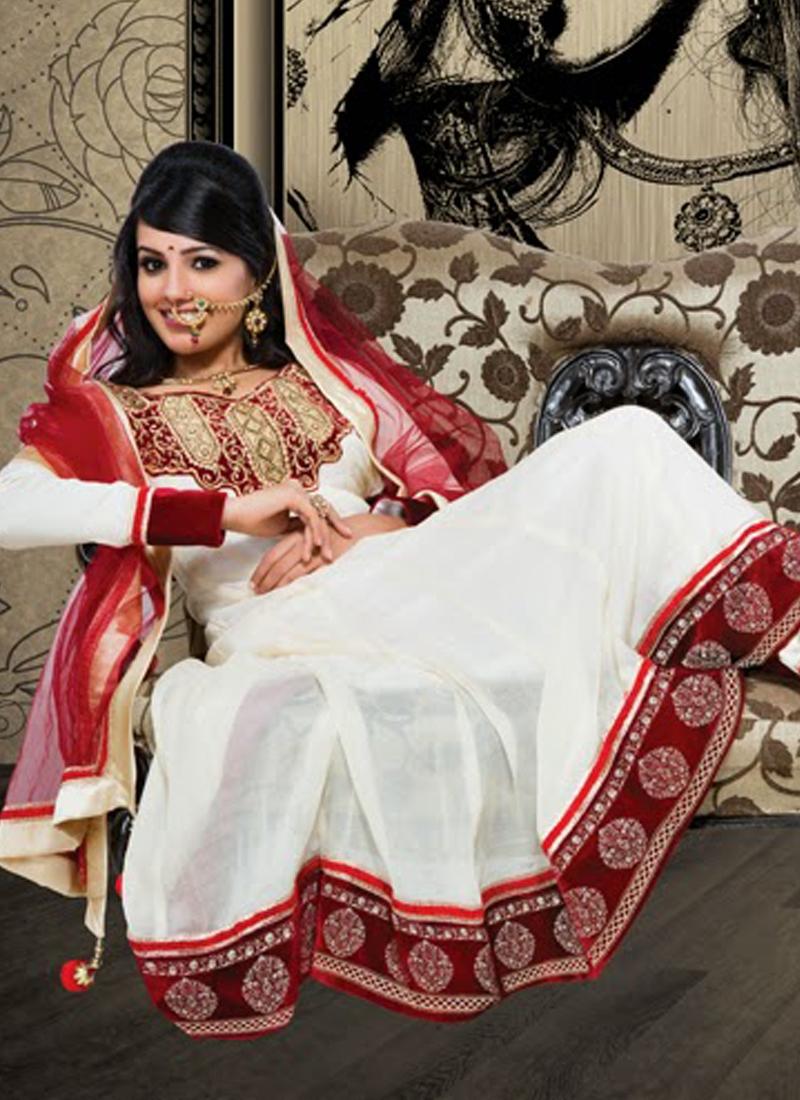Enchanting Velvet Work Anarkali Salwar Kameez