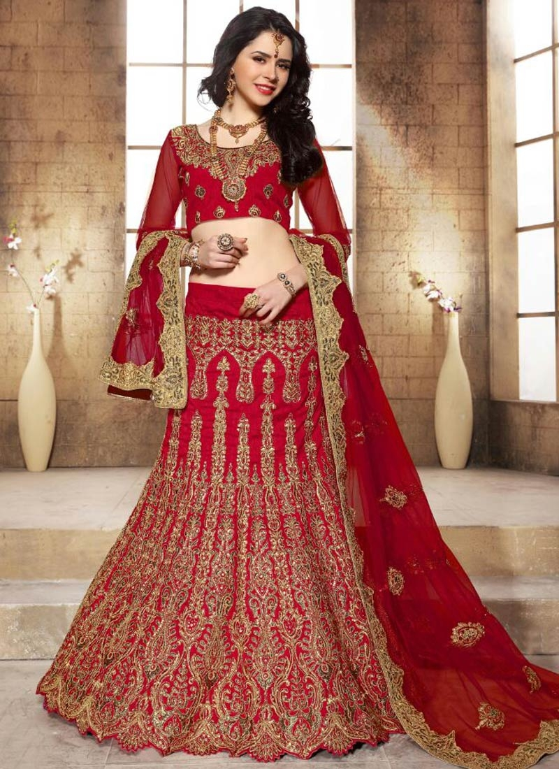 Energetic Art Dupion Silk Bridal Lehenga Choli