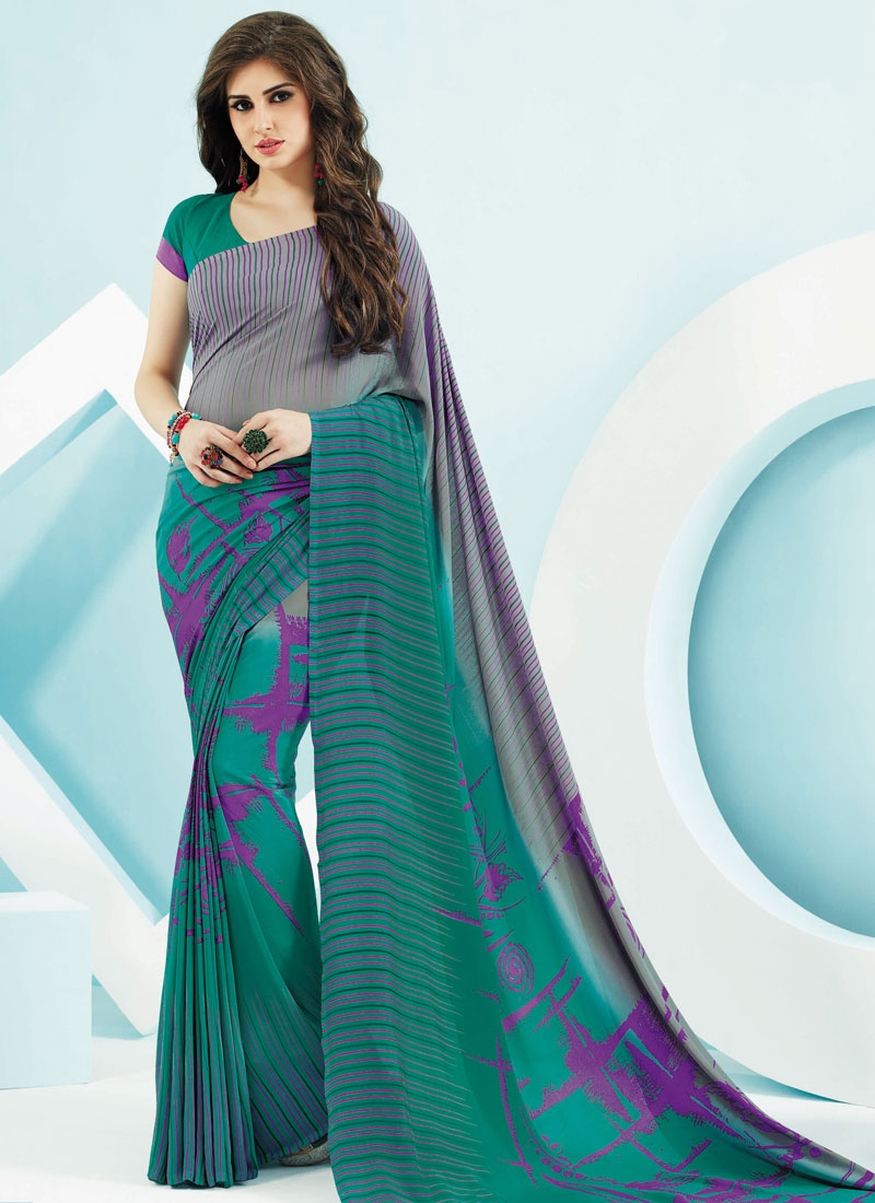 Energetic Crepe Silk Casual Saree