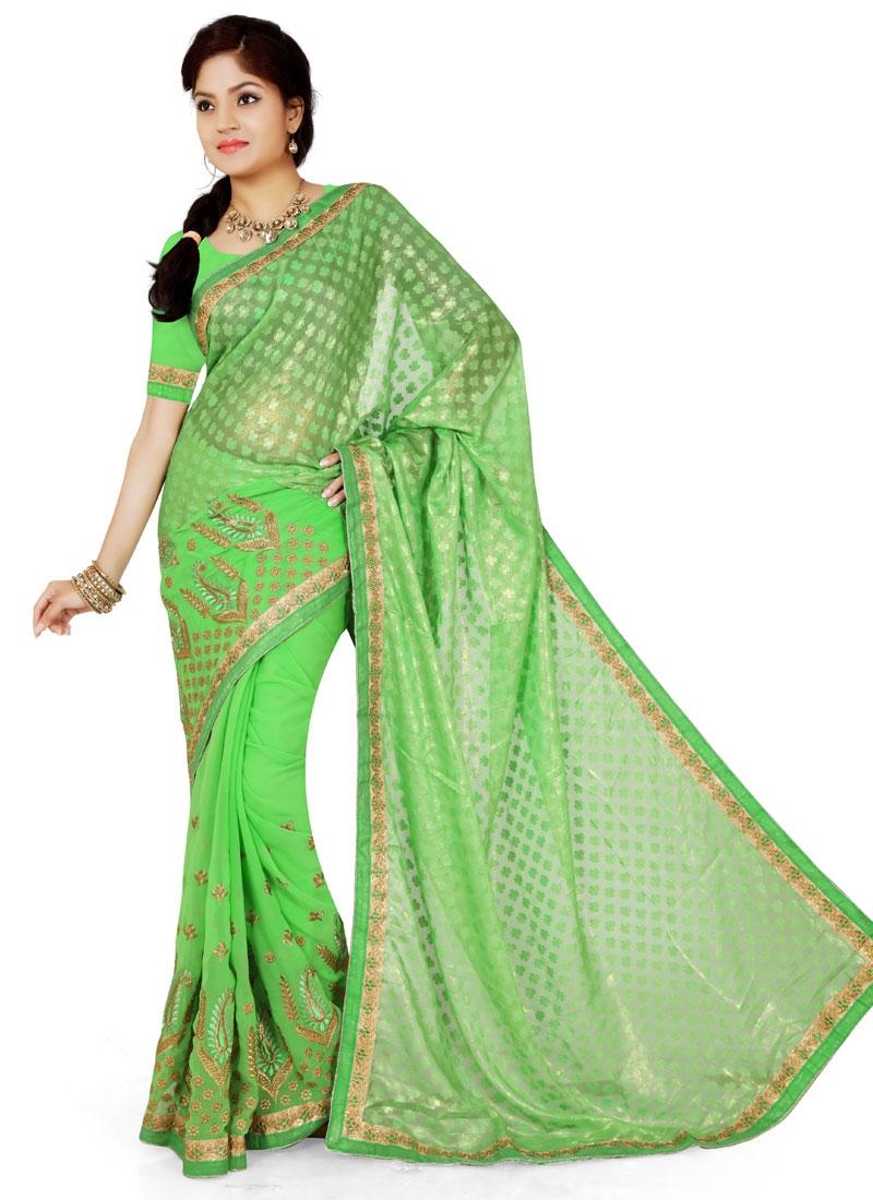 Energetic Resham Work Party Wear Saree