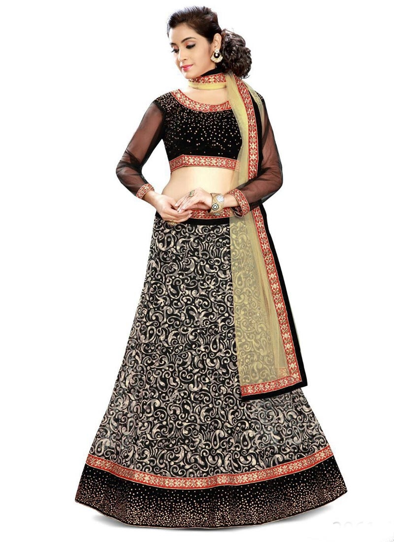 Engrossing Back Color Party Wear Lehenga Choli