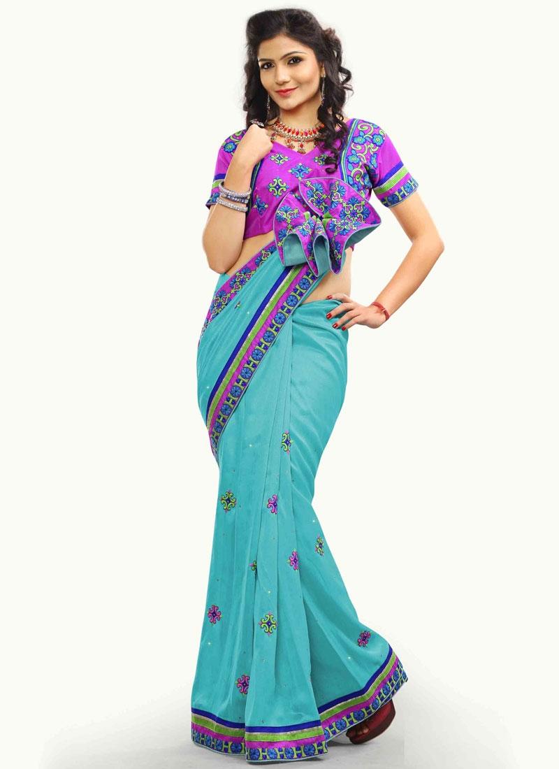 Engrossing Bhagalpuri Silk Party Wear Saree