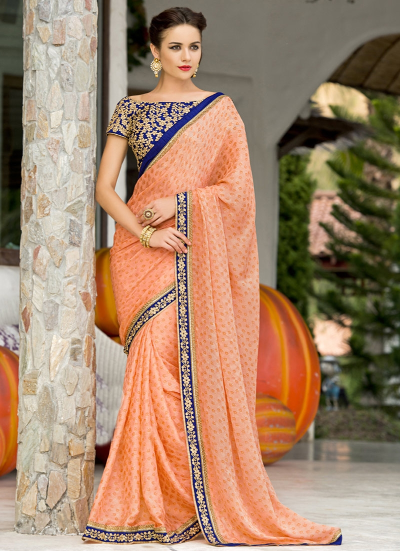 Engrossing Chiffon Satin Party Wear Saree