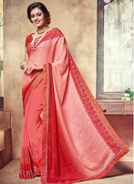 Engrossing  Designer Contemporary Saree For Ceremonial
