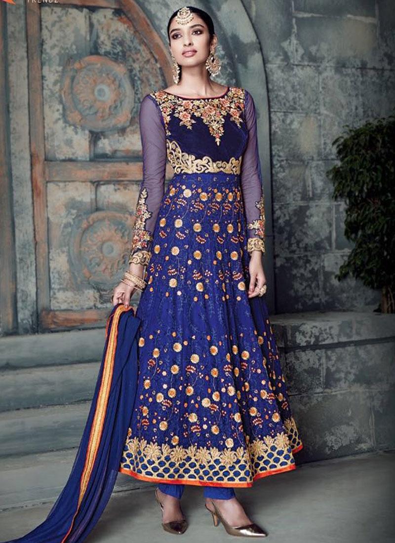 Engrossing Pure Georgette Ankle Length Wedding Salwar Suit