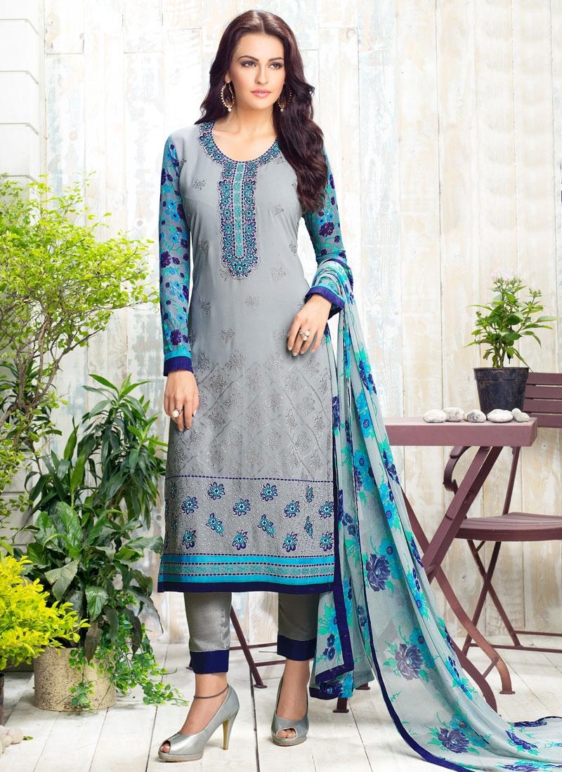 Engrossing Resham Work Pant Style Pakistani Salwar Suit