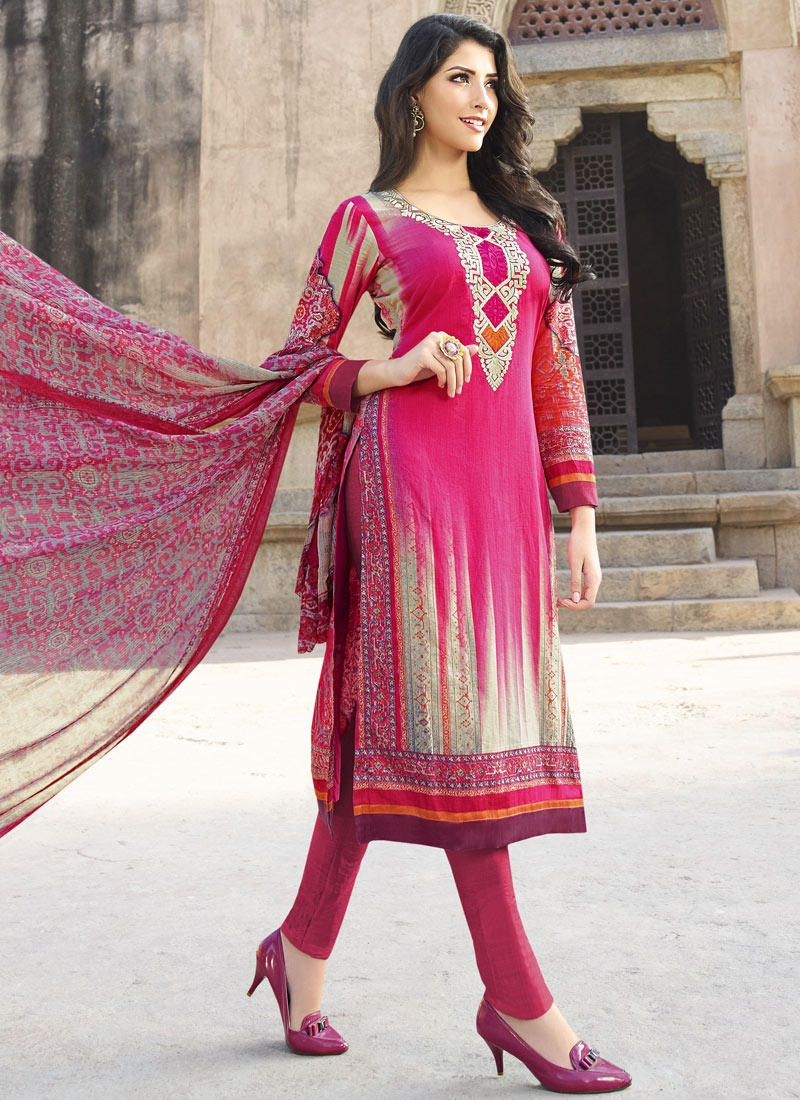Engrossing Rose Pink Color Lace Work Pant Style Party Wear Suit